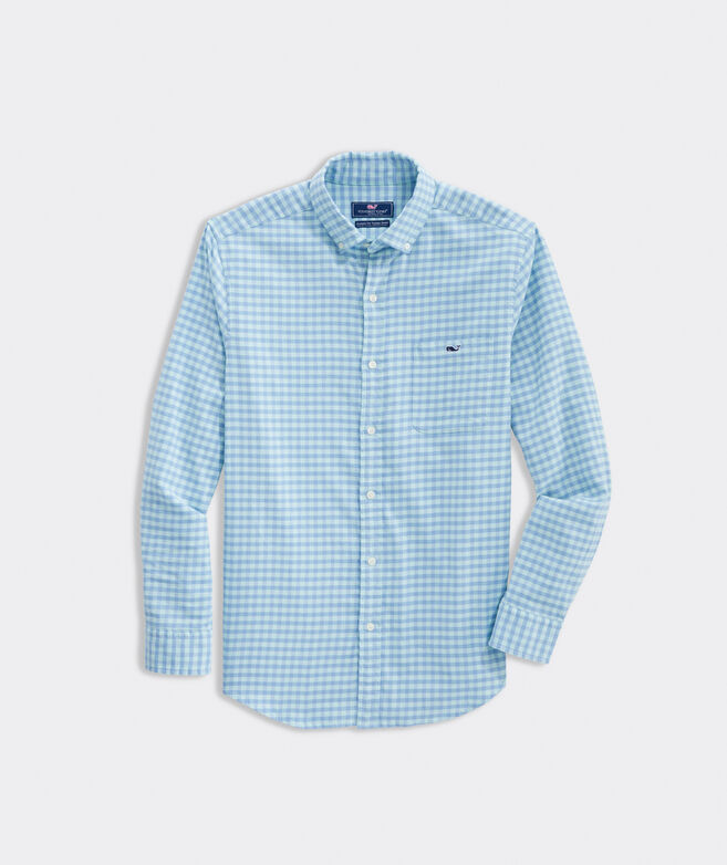 Classic Fit Gingham Shirt in Island Twill