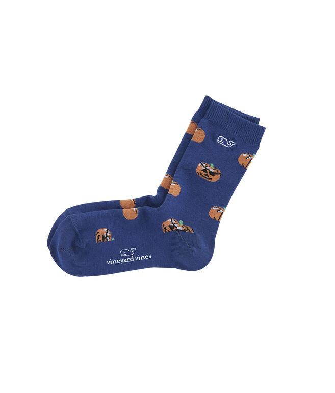 Boys Fall Pumpkin Patch Socks