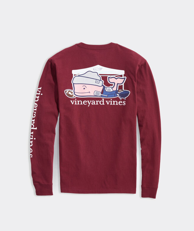 Big & Tall Playoff Tailgate Whale Long-Sleeve Pocket Tee