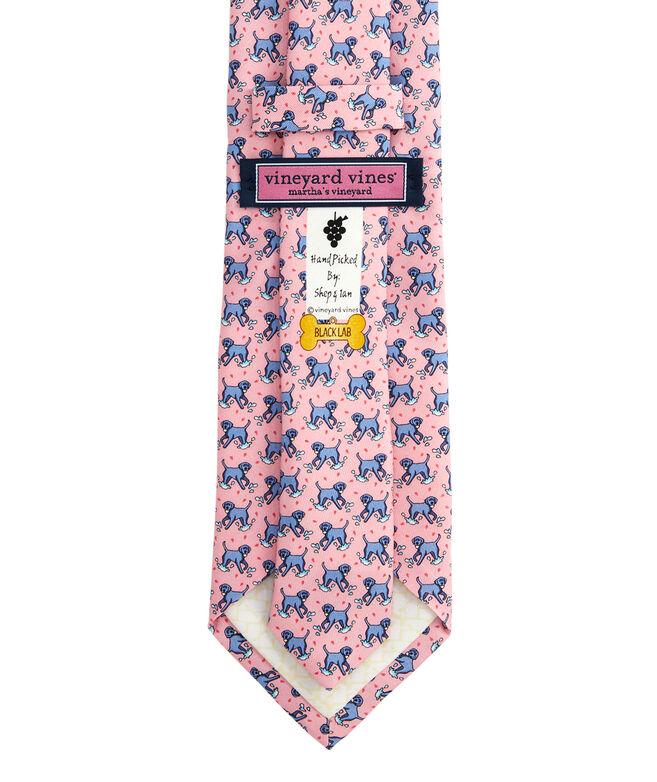 Black Lab Printed Tie