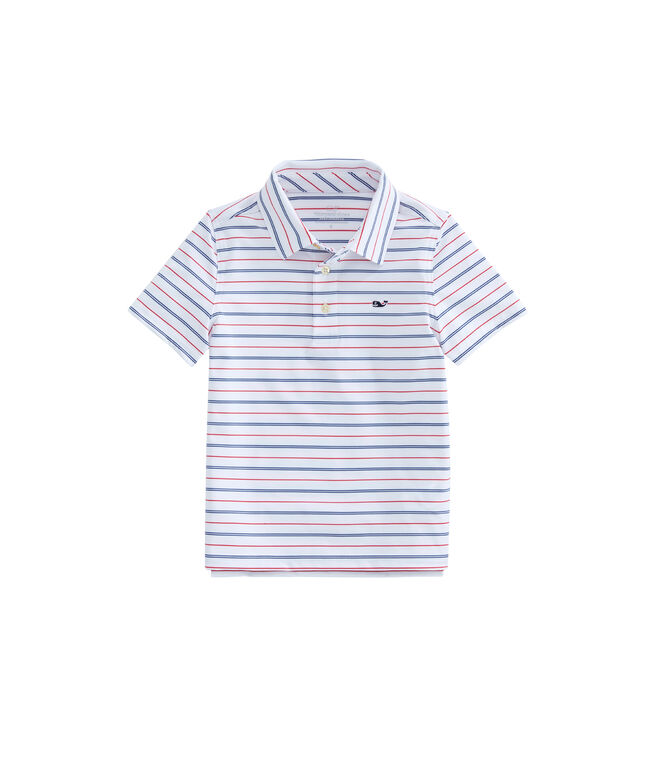Boys Shippan Stripe Sankaty Performance Polo