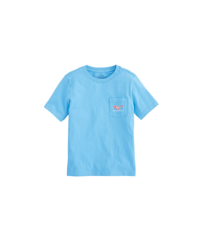 Boys Swimming With Fish Pocket T-Shirt