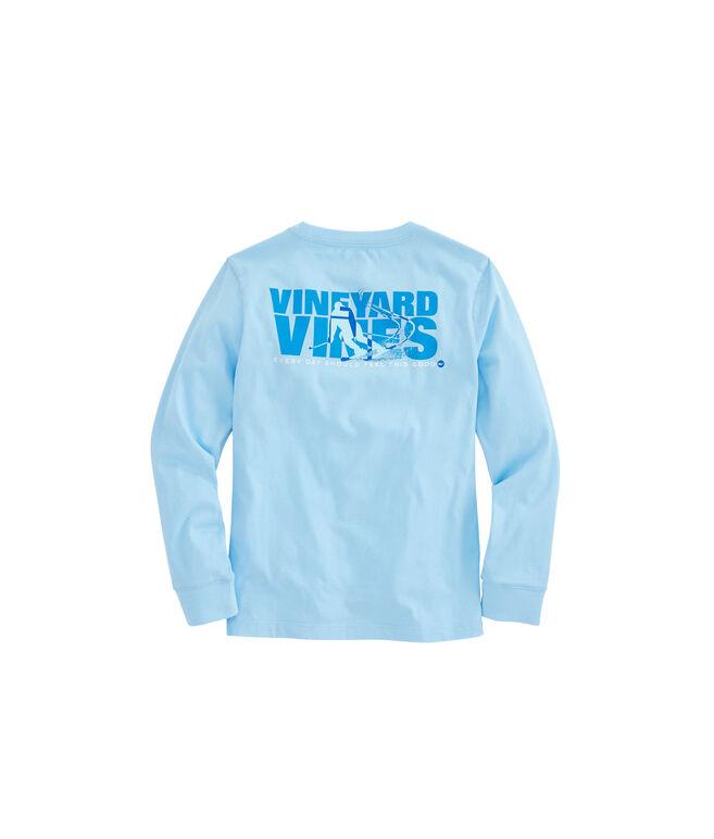 Boys Long-Sleeve Ski Knockout Pocket T-Shirt