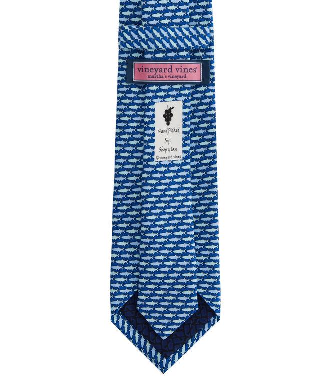 Extra Long Tonal Tarpon Printed Tie