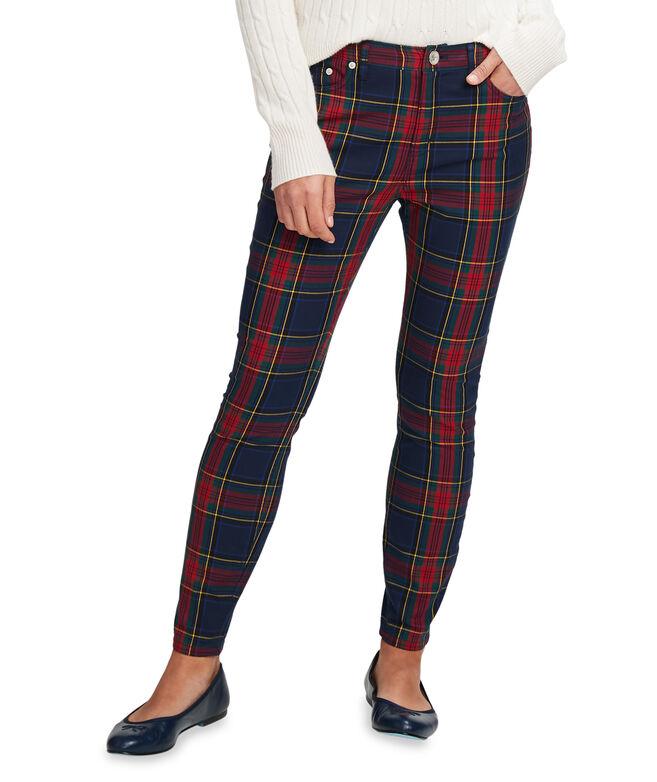 Jolly Plaid Jamie High Rise 5-Pocket Pants