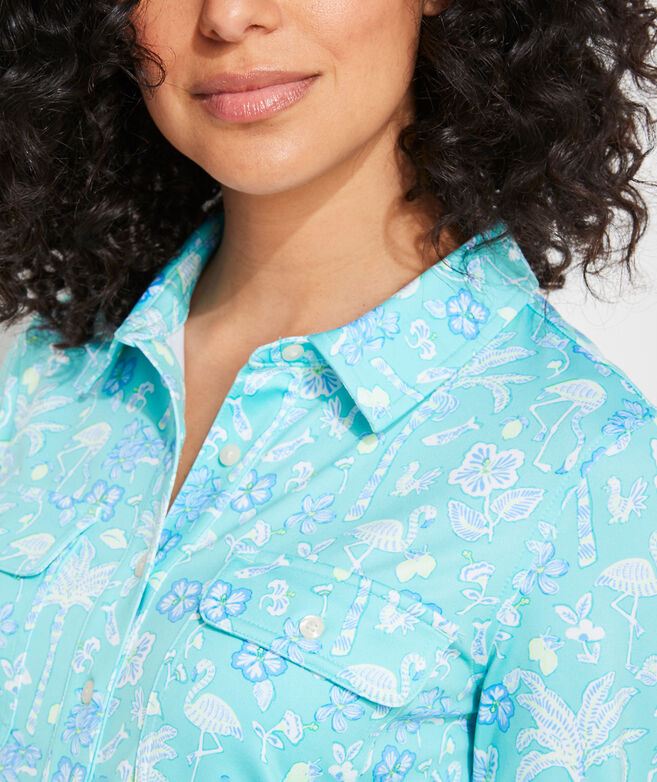 Printed Sankaty Margo Shirt Dress