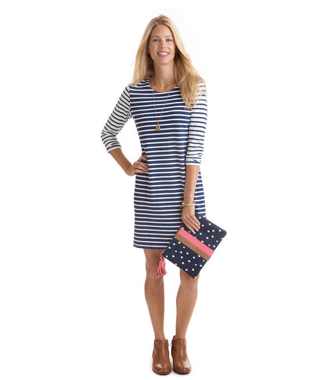Mixed Stripe Knit Dress