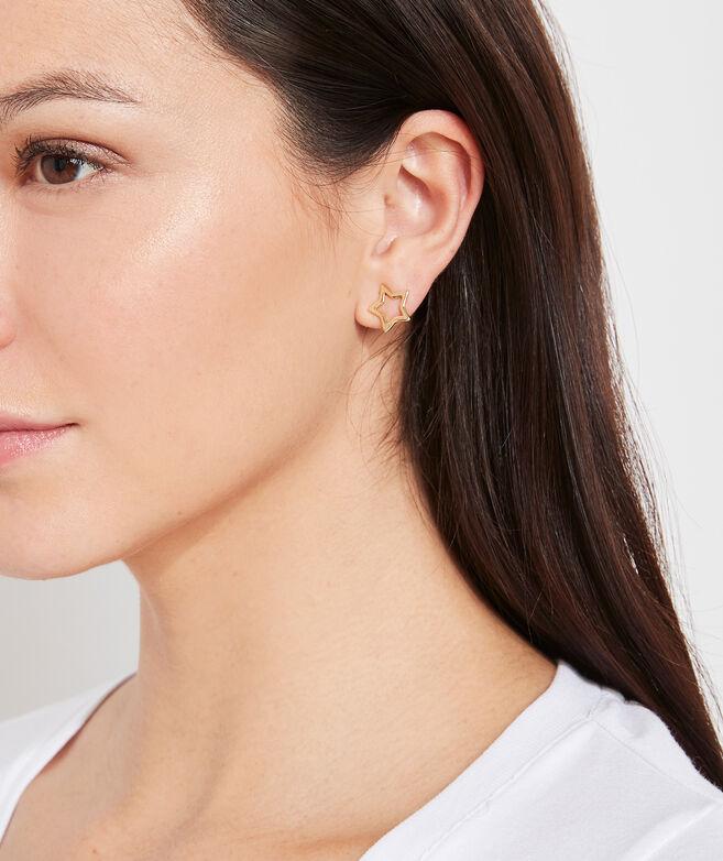 Open Star Stud Earrings
