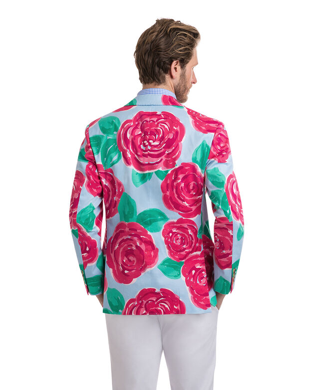 Run For The Roses Printed Blazer