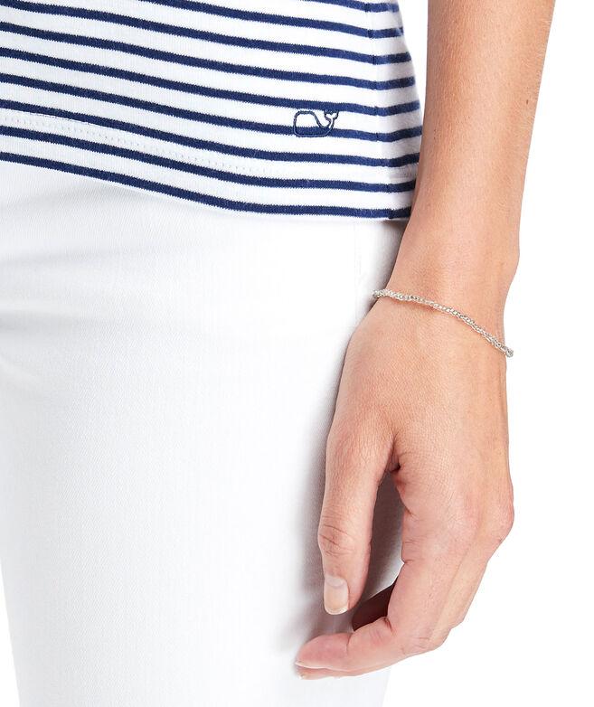 Striped Crewneck Short-Sleeve Simple Tee