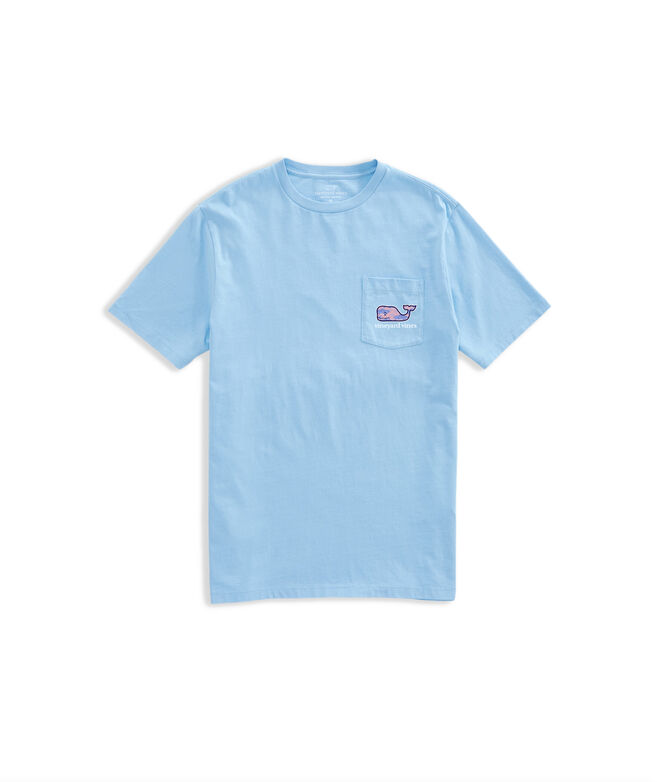 OUTLET Men's Fish Stars Whale Fill Short-Sleeve Pocket Tee