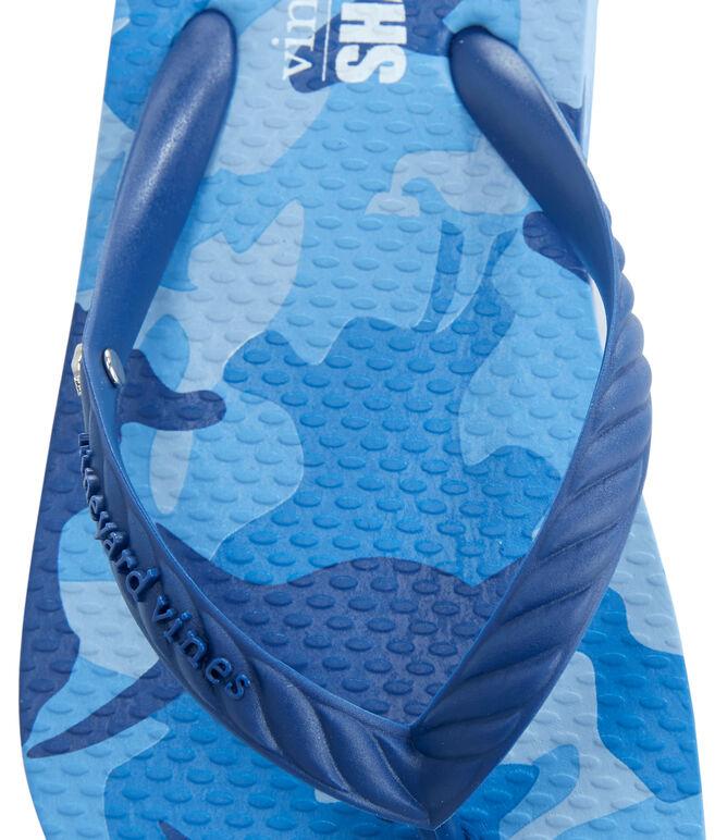 Girls Shark Week Printed Flip Flops