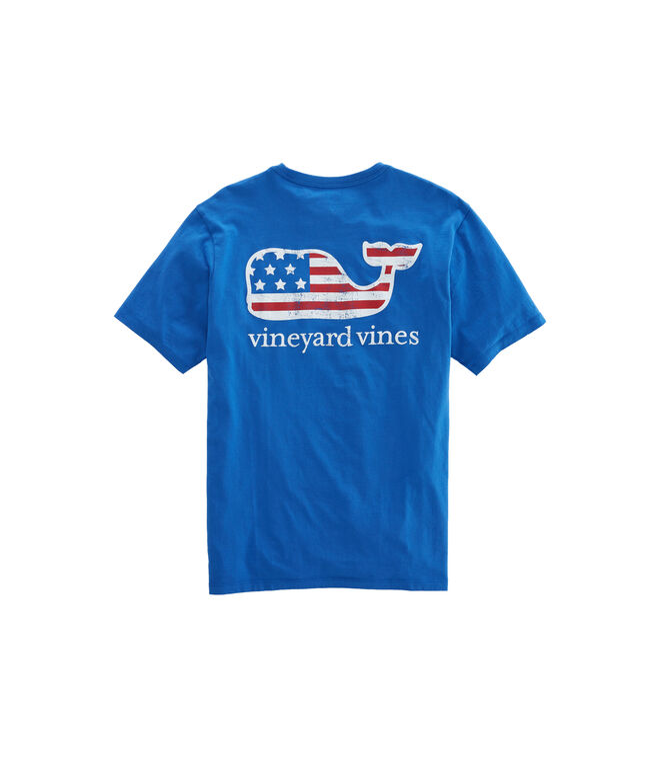 Flag Whale Graphic T-Shirt