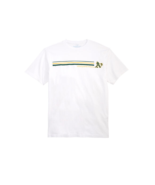Oakland Athletics 3 Stripe Tee