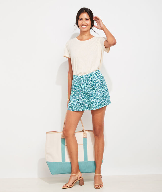 Sea Floral Pull-On Shorts