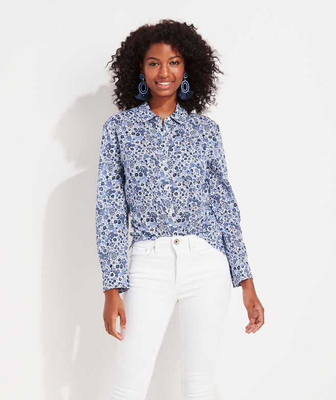 Among The Flowers Chilmark Relaxed Button-Down Shirt