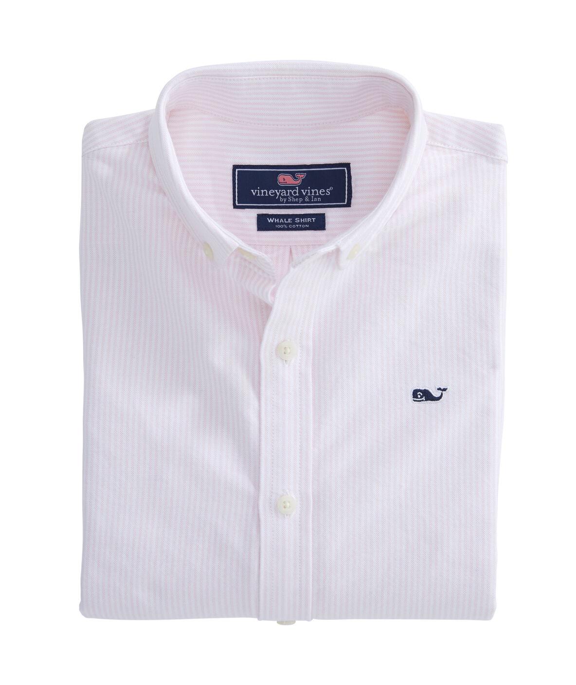 a783622327fd58 Shop Boys Fine Line Stripe Oxford Whale Shirt at vineyard vines