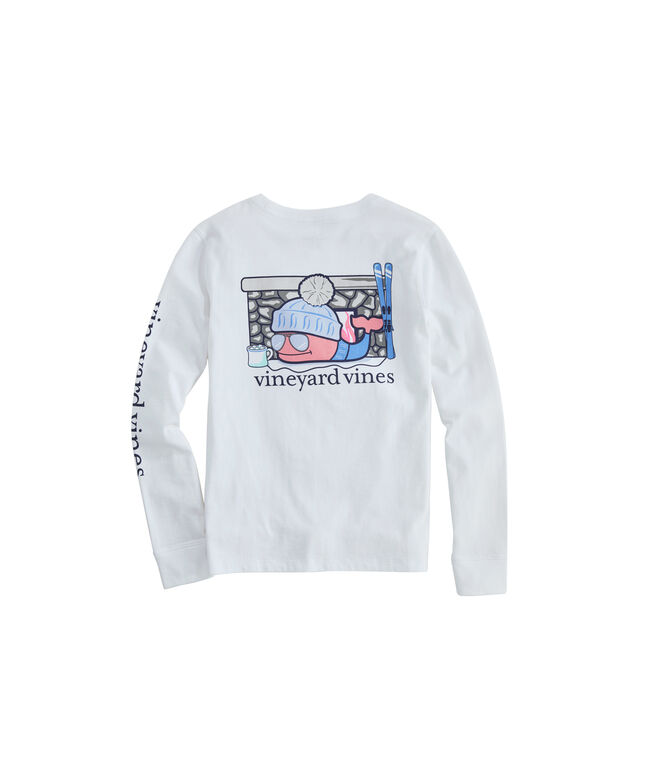 Girls Après Ski Whale Long-Sleeve Pocket Tee