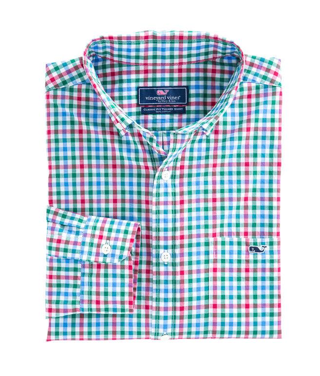 Higgins Beach Gingham Classic Tucker Shirt