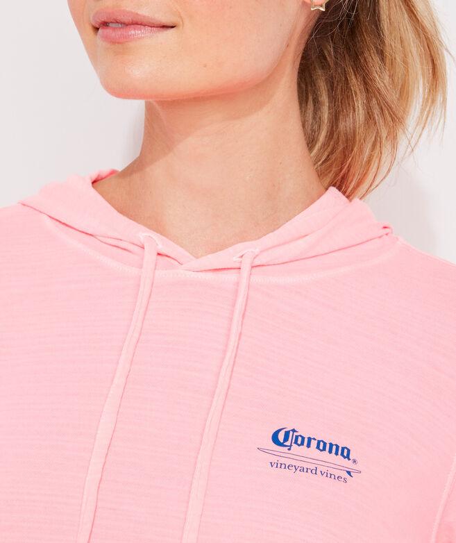 Women's Corona® x vineyard vines Surf Logo Long-Sleeve Hoodie Tee