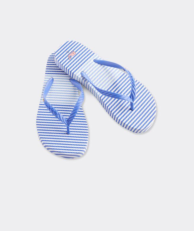Block Striped Flip Flops