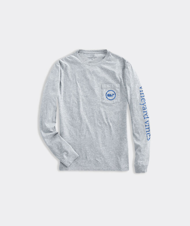 Camo Whale Dot Long-Sleeve Pocket Tee