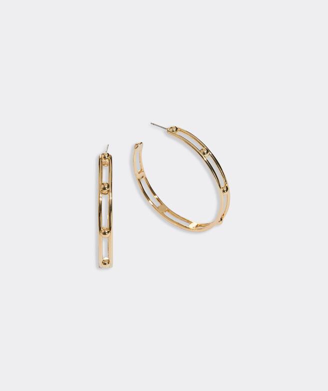 Gold Dot Hoop Earrings