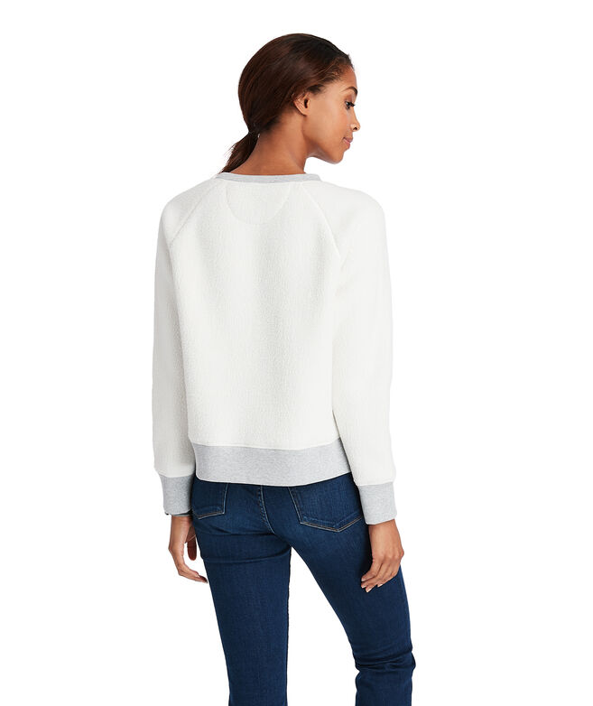 OUTLET Women's Fuzzy Crewneck Pullover