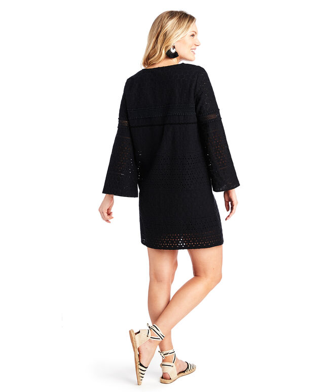 Black Eyelet Beach Dress