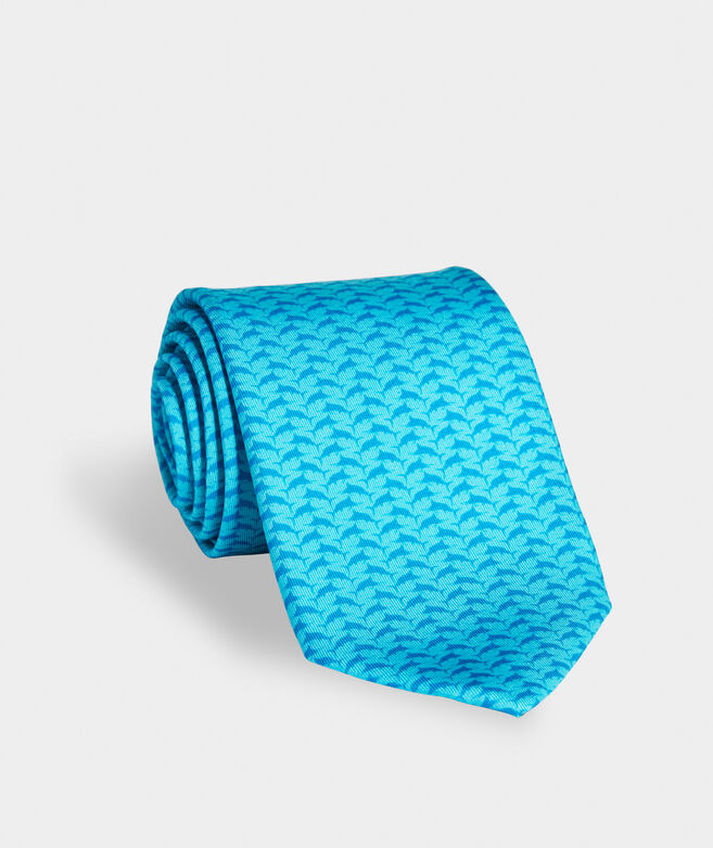 Tonal Marlin Leap Printed Tie