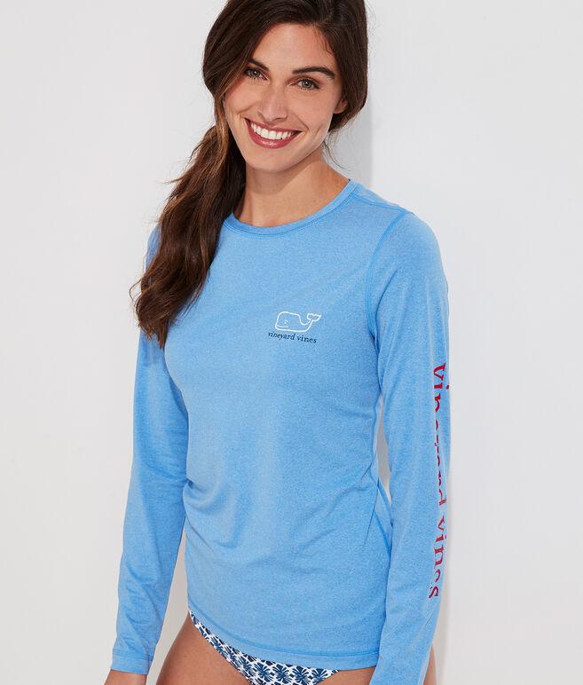 Girls Vineyard Vines Rash Guard Whale Dot Long Sleeve Swimming Top Shirt XS S