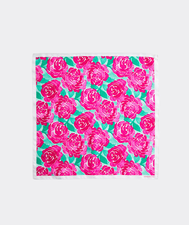 Kentucky Derby Exploded Roses Pocket Square