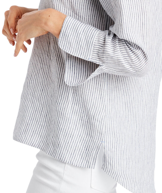 Fine Striped Linen Savannah Popover