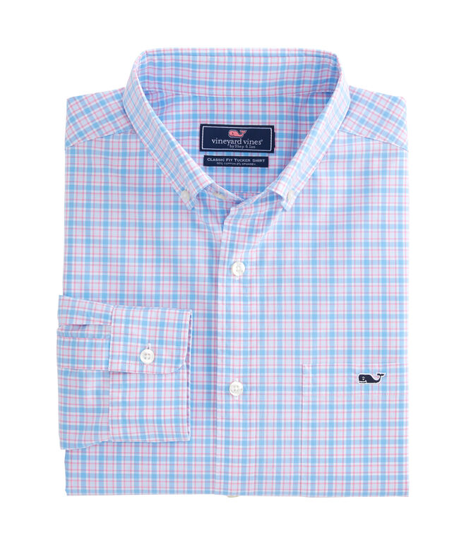 Captain Lyford Check Classic Stretch Tucker Shirt