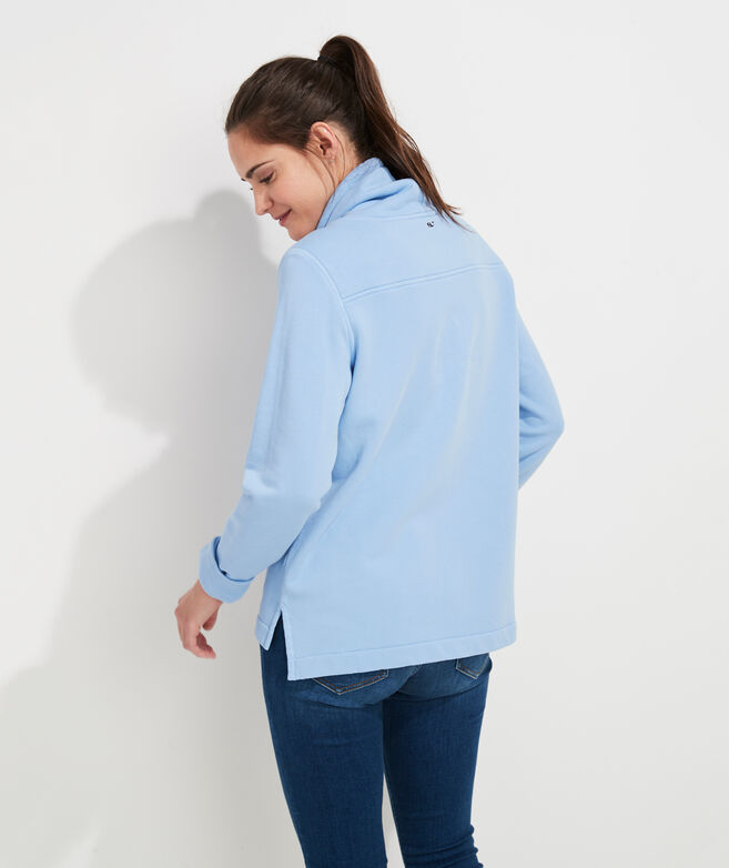 Garment-Dyed Funnel Neck Relaxed Shep Shirt