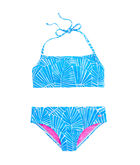 Girls Abstract Leaf Bikini