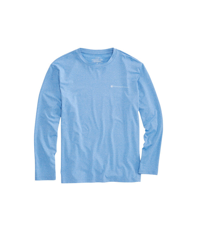 Long-Sleeve Performance Heathered Sportfisher T-Shirt