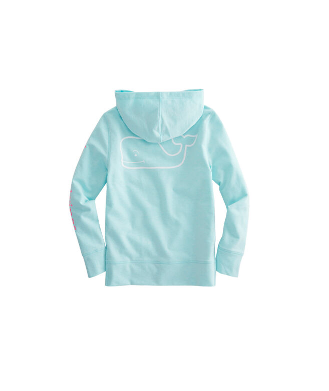 Girls French Terry Two-Tone Vintage Whale Hoodie
