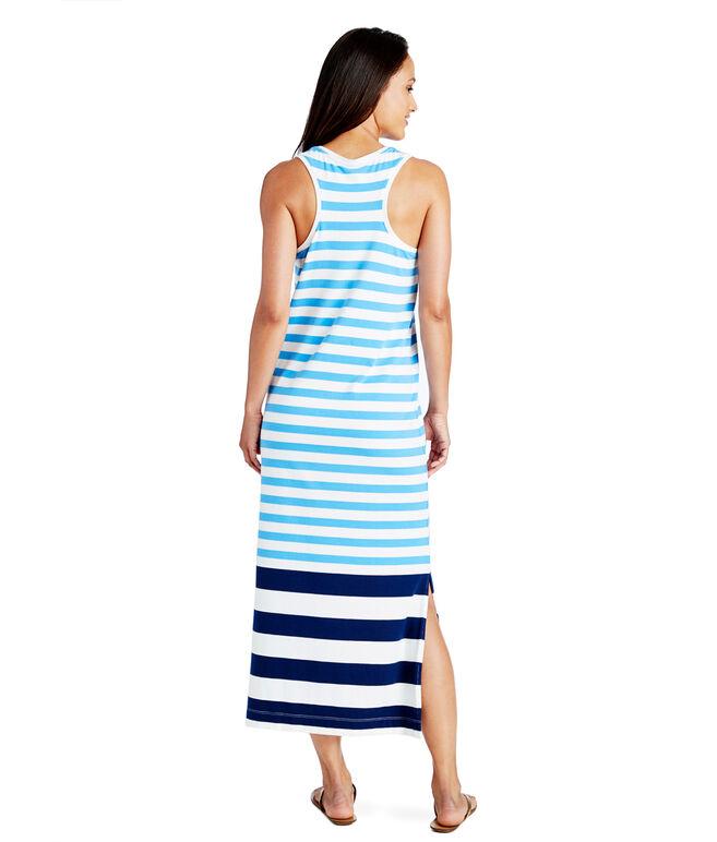 Engineered Stripe Maxi Dress