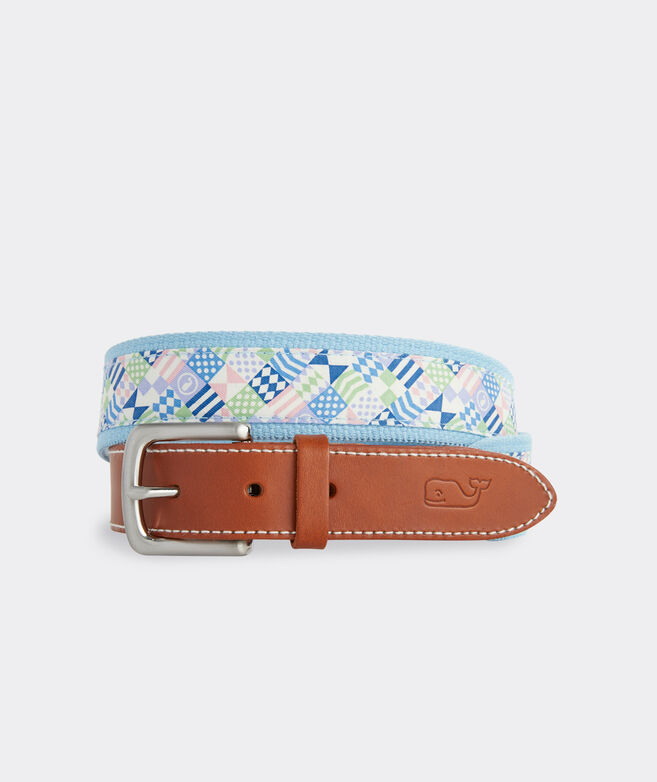 Kentucky Derby Patchwork Canvas Club Belt