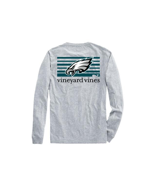 Philadelphia Eagles Long-Sleeve Block Stripe Tee
