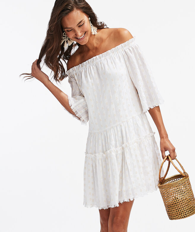 Off-The-Shoulder Shimmer Dress