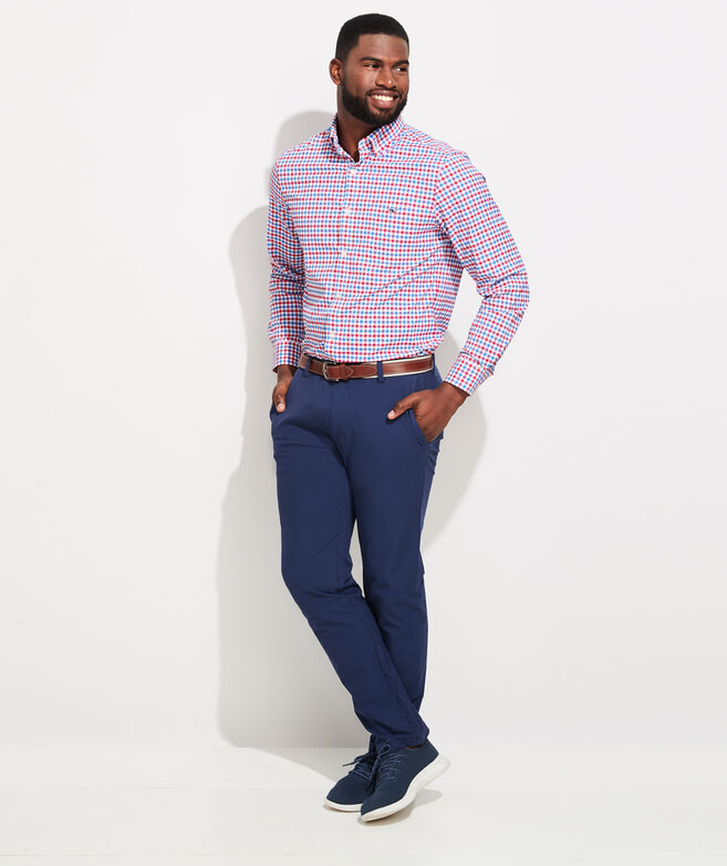 Classic Fit Grouper On-The-Go Performance Tucker Button-Down Shirt