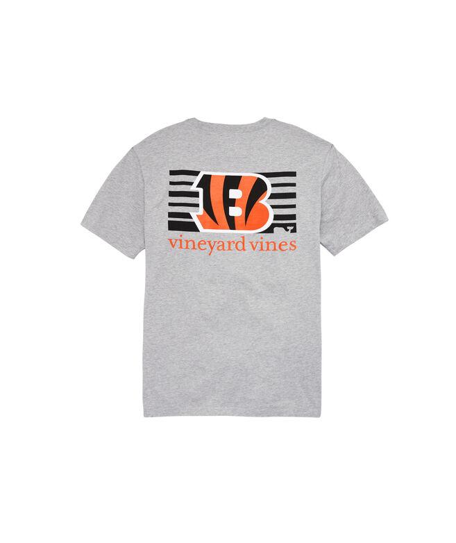 Cincinnati Bengals Block Stripe Tee