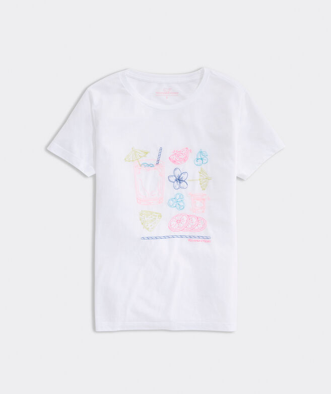 Embroidered Island Time Short-Sleeve Island Tee