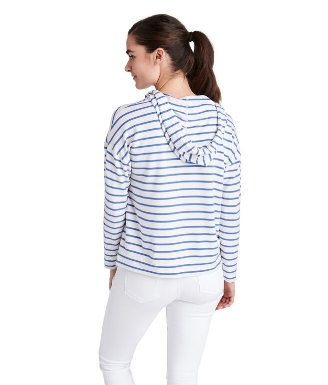 Striped Pop-Over Hoodie