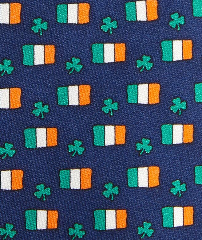 Boys' St. Paddy's Flag & Shamrock Printed Tie