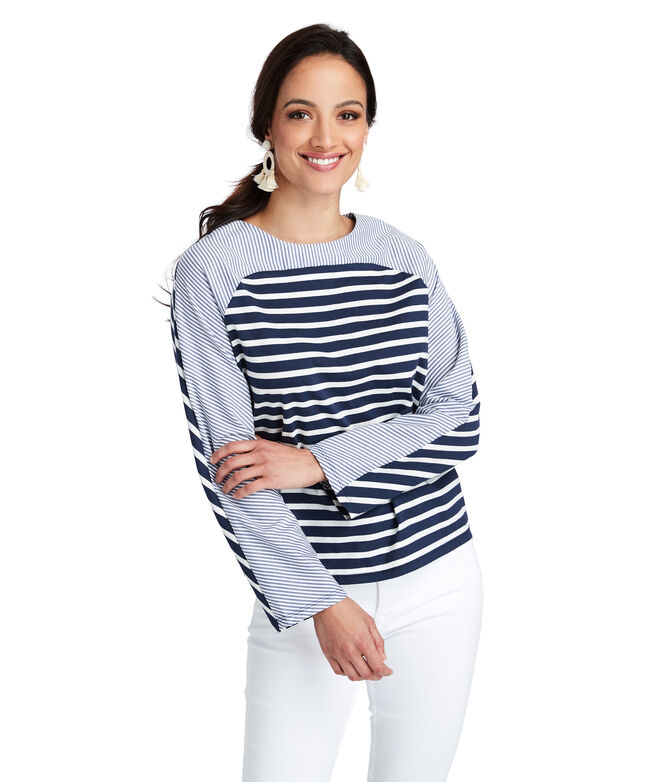 Mixed Stripe Panel Top