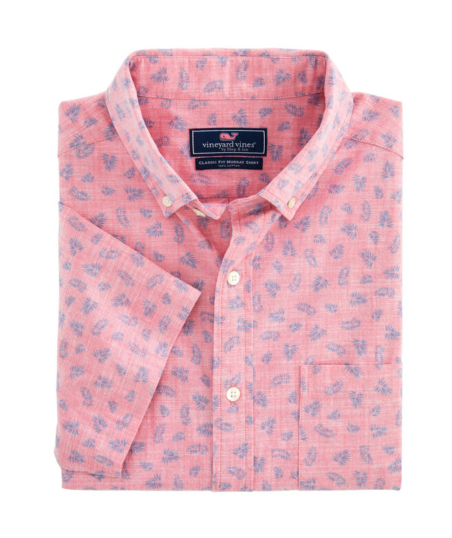 Slim Fit Tossed Leaves Murray Short-Sleeve Button-Down Shirt