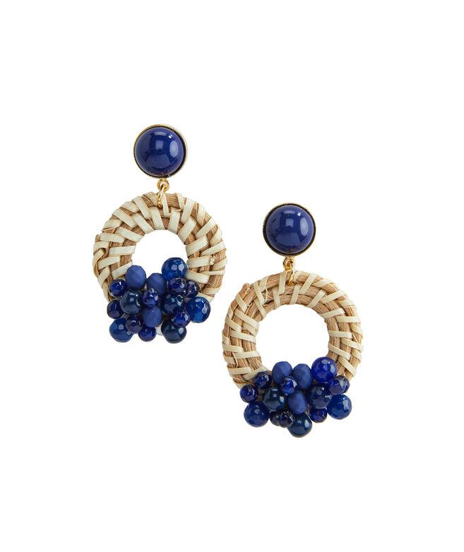 Basket Wave Beaded Earrings